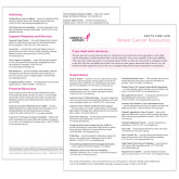 Facts for Life Breast Cancer Resources Single Sheet-