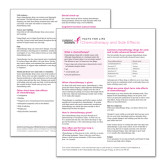 Facts for Life Chemotherapy and Side Effects Single Sheet-