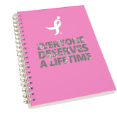 Clear 7 x 10 Spiral Journal Notebook-Everyone Deserves A Lifetime - Splatter