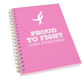 Clear 7 x 10 Spiral Journal Notebook-Proud To Fight