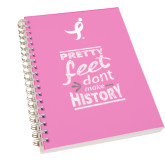 Clear 7 x 10 Spiral Journal Notebook-Pretty Feet Dont Make History