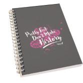 Clear 7 x 10 Spiral Journal Notebook-Pretty Feet Dont Make History - Splatter