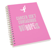 Clear 7 x 10 Spiral Journal Notebook-Cancer Isnt Contagious