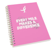 Clear 7 x 10 Spiral Journal Notebook-Every Mile Makes A Difference