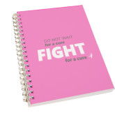 Clear 7 x 10 Spiral Journal Notebook-Fight For A Cure