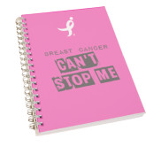 Clear 7 x 10 Spiral Journal Notebook-Cant Stop Me