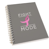 Clear 7 x 10 Spiral Journal Notebook-Fight Mode