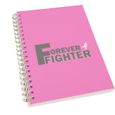 Clear 7 x 10 Spiral Journal Notebook-Forever Fighter
