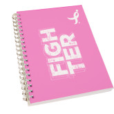 Clear 7 x 10 Spiral Journal Notebook-Fighter