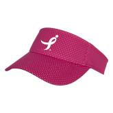 Pink Athletic Mesh Visor-Ribbon