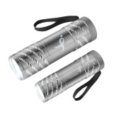 Astro Silver Flashlight-Ribbon Engraved