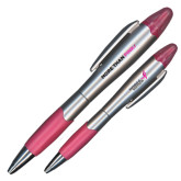 Silver/Pink Blossom Pen/Highlighter-Be More Than Pink
