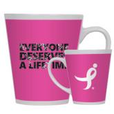 Full Color Latte Mug 12oz-Everyone Deserves A Lifetime - Splatter