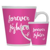 Full Color Latte Mug 12oz-Forever Fighter
