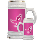 Full Color Decorative Ceramic Mug 22oz-Ribbon