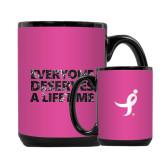 Full Color Black Mug 15oz-Everyone Deserves A Lifetime - Splatter