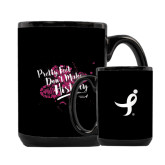 Full Color Black Mug 15oz-Pretty Feet Dont Make History - Splatter