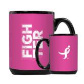 Full Color Black Mug 15oz-Fighter