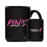 Full Color Black Mug 15oz-Pink More Than A Color