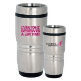 Rolling Ridges Silver Stainless Tumbler 16oz-Everyone Deserves A Lifetime - Splatter