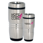 Rolling Ridges Silver Stainless Tumbler 16oz-Hope Fight Cure
