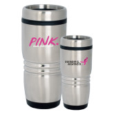 Rolling Ridges Silver Stainless Tumbler-Pink More Than A Color