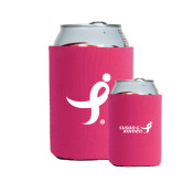 Collapsible Hot Pink Can Holder-Ribbon