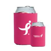 Neoprene Hot Pink Can Holder-Ribbon