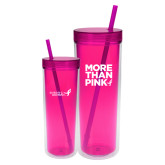 16oz Double Wall Fuchsia Tumbler-More Than Pink