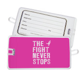 Luggage Tag-The Fight Never Stops Distressed