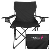 Deluxe Black Captains Chair-Susan G. Komen