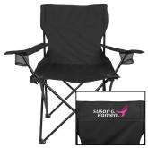 Deluxe Black Captains Chair-Susan G. Komen