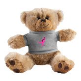 Plush Big Paw 8 1/2 inch Brown Bear w/Grey Shirt-Ribbon