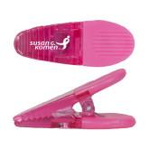 Pink Crocodile Clip/Magnet-Susan G. Komen