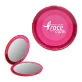 Pink Round Compact With 2x Magnifier Mirror-Susan G. Komen Race for the Cure