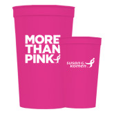 22 oz Pink Transparent Stadium Cup-More Than Pink