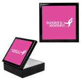 Ebony Black Accessory Box With 6 x 6 Tile-Susan G. Komen
