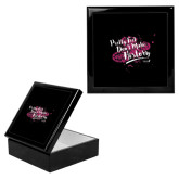 Ebony Black Accessory Box With 6 x 6 Tile-Pretty Feet Dont Make History - Splatter