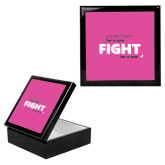 Ebony Black Accessory Box With 6 x 6 Tile-Fight For A Cure