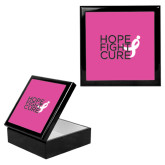 Ebony Black Accessory Box With 6 x 6 Tile-Hope Fight Cure