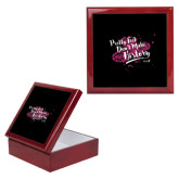 Red Mahogany Accessory Box With 6 x 6 Tile-Pretty Feet Dont Make History - Splatter