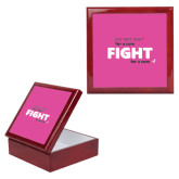 Red Mahogany Accessory Box With 6 x 6 Tile-Fight For A Cure
