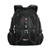 Wenger Swiss Army Mega Black Compu Backpack-Susan G. Komen