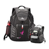 High Sierra Big Wig Black Compu Backpack-Ribbon