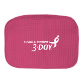 Large Hot Pink Waffle Cosmetic Bag-Susan G. Komen 3-Day