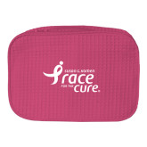 Large Hot Pink Waffle Cosmetic Bag-Susan G. Komen Race for the Cure