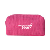 Small Hot Pink Waffle Cosmetic Bag-Susan G. Komen 3-Day