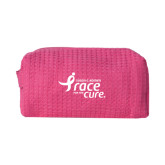 Small Hot Pink Waffle Cosmetic Bag-Susan G. Komen Race for the Cure