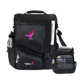 Momentum Black Computer Messenger Bag-Ribbon