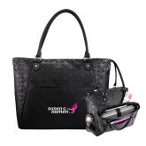 Sophia Checkpoint Friendly Black Compu Tote-Susan G. Komen